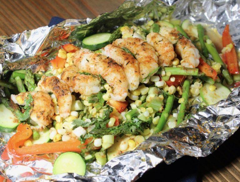 Cajun Shrimp Foil Packet
