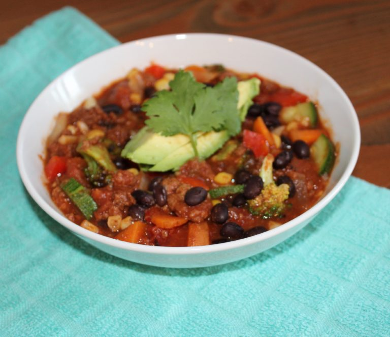 Hearty Meat & Veggie Chili