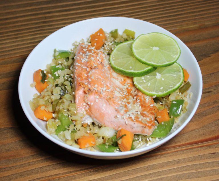 Teriyaki Lime Salmon Bowl