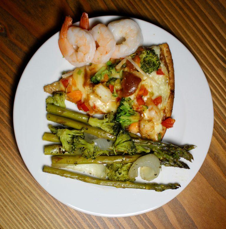 Healthy Shrimp Thai Pizza