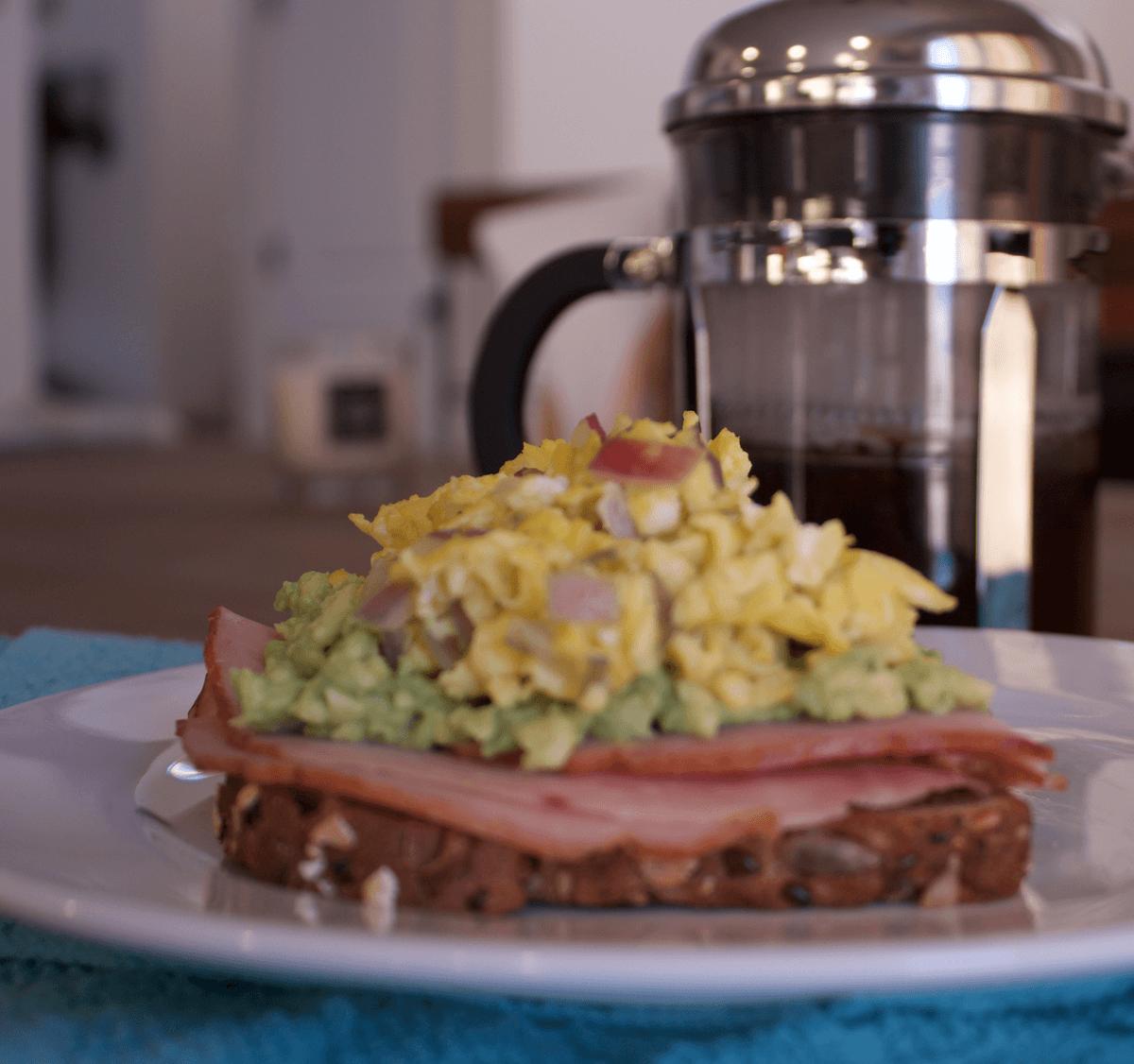 Ham And Avocado Scramble Recipe: Easy Avocado Toast Recipe