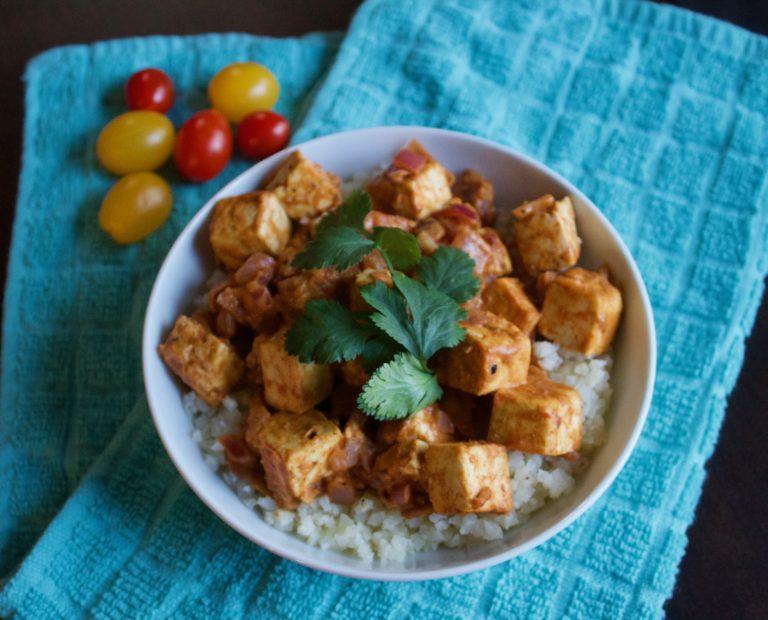 Curry Cauliflower Tofu Bowl