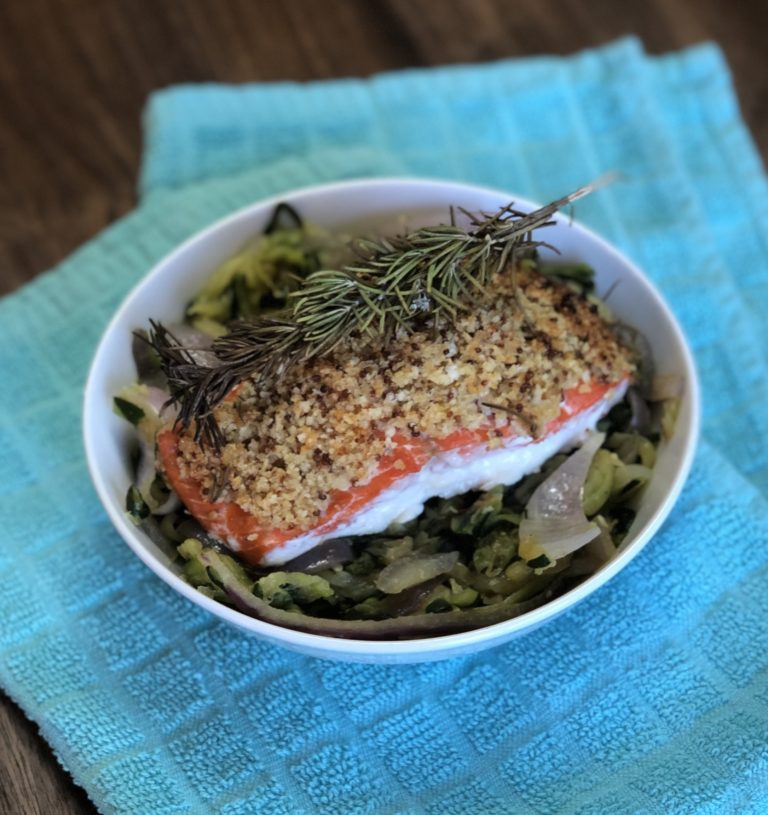 Easy Almond Crusted Salmon